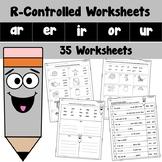 R Controlled Worksheets AR ER IR OR UR