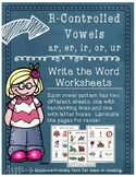 R-Controlled Write the Word Worksheets