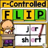 R-Controlled Vowel Word Family (ar, or, er, ir, ur) Phonics FLIP Books