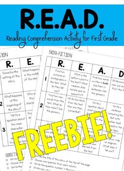 R.E.A.D. Comprehension Activity for First Grade