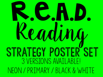 R.E.A.D. Reading Strategy Poster Set