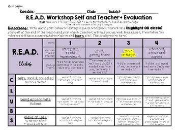 R.E.A.D. Workshop/Center Self & Teacher Rubric