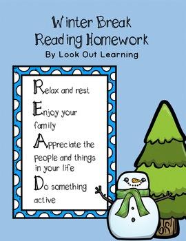 R.E.A.D. for Winter Break: Reading Homework