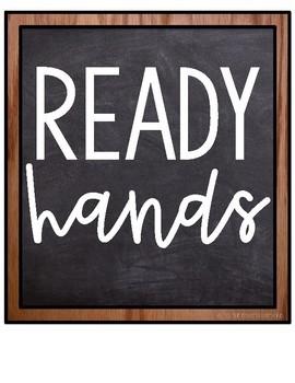 R.E.S.P.E.C.T. Classroom Expectation Posters - *Burlap & Chalkboard Theme*