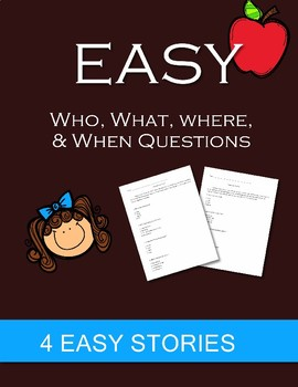 """Answer """"WH"""" Questions for EASY reading passages"""