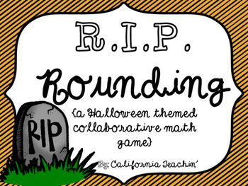 R.I.P. Rounding Collaborative Review Game {Halloween themed}