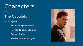 R&J Character Introduction PowerPoint