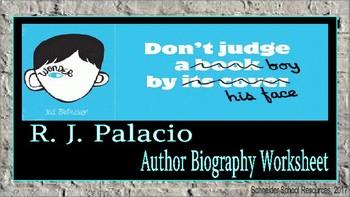 R. J. Palacio (Wonder): Author Biography Assignment/Graphic Organizer
