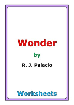 "R. J. Palacio ""Wonder"" worksheets"