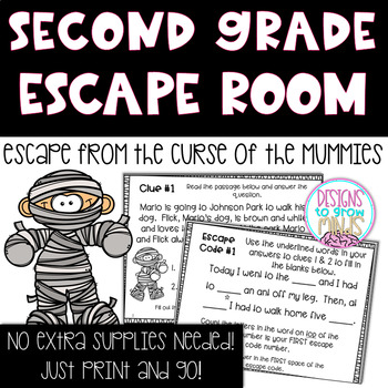 R.L 2.1 Escape Room Activity- Escape from the Curse of the Mummies