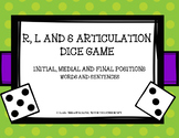 R, L and S Articulation Dice Games- Words and Sentences