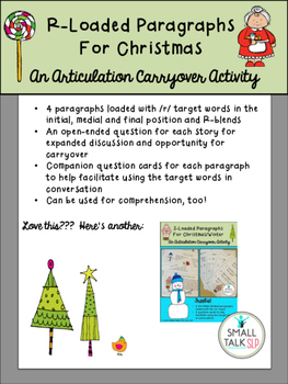 R-Loaded Paragraphs for Christmas Freebie