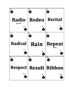 R Multipurpose Playing Cards