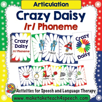 R Phoneme- Crazy Daisy Card Game