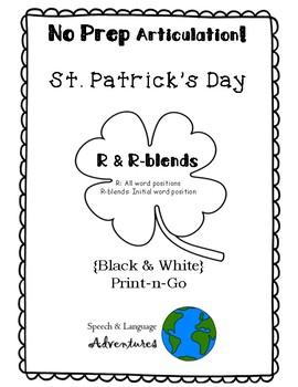 R & R-blend Articulation St. Patrick's Day - NO PREP [BW]