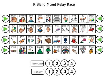 R Relay Race-articulation game