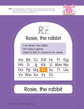 R: Rosie, the Rabbit