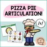 R SOUND Pizza Articulation Cards for Single & Multisyllabic Words & Sentences