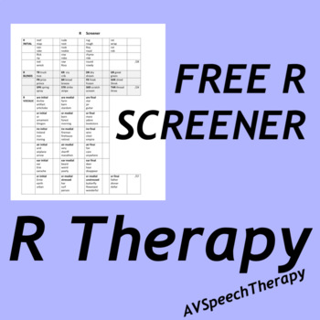 R Screener (Articulation)