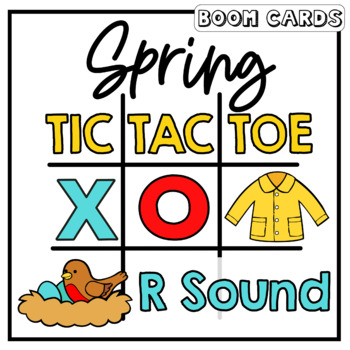 R Sound Tic Tac Toe Boom Cards: Spring Edition | Speech Therapy | Articulation