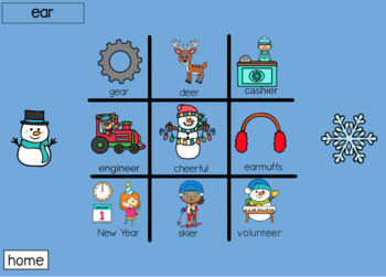 R Sound Tic Tac Toe Boom Cards: Winter Edition | Speech Therapy | Articulation