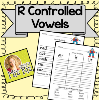 R Sound and R-Controlled Vowels Practice Pages!