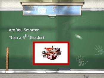 R U Smarter than a 5th Grader Game for Buen Viaje Level 1 Unit 10!