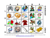 R Vocabulary Picture Grids: Initial, BR-Blends, and All Positions of R
