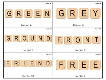 R Word Game for Articulation Practice