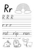 Letter R Worksheet SA Font