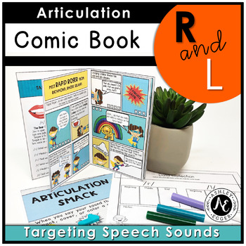 Articulation Activities and Comic Book: Speech Therapy (/r/ and /l/)