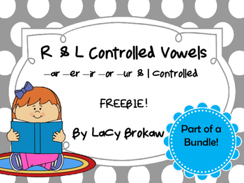 R and L controlled Vowels FREEBIE