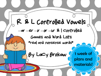 R and L controlled Vowels Game and Wordlists