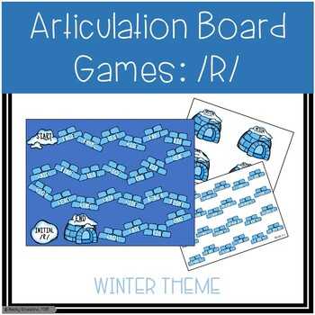 /R/ and /R/-Blends Articulation Board Games - Winter Theme