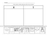 R and T Beginning Sound Sort - Spanish