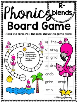 R-blends PHONICS BOARD Game