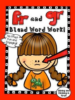R blends Word Work - fr and gr - No Prep!