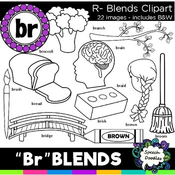 R blends clipart - Br blends- 22 images! Personal and Commercial use