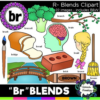 R blends clipart - Br blends- 22 images! Personal and Comm
