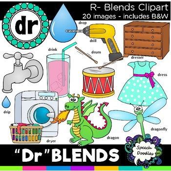 R blends clipart - Dr blends  - 20 images! Personal and Commercial use