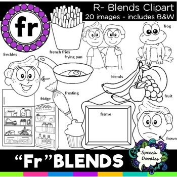 R Blends Clipart Fr Blends 20 Images Personal And Commercial Use