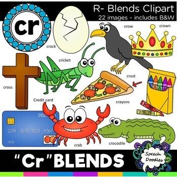 R blends clipart - MEGA bundle: 151 images! Br, Cr, Dr, Fr, Gr, Pr,& Tr blends
