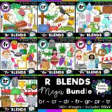 R blends clipart - MEGA bundle: 148 images! Br, Cr, Dr, Fr