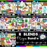 R blends clipart - MEGA bundle: 151 images! Br, Cr, Dr, Fr