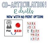 R coarticulation cards