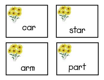 R-control Vowel Word Game, Plucked!