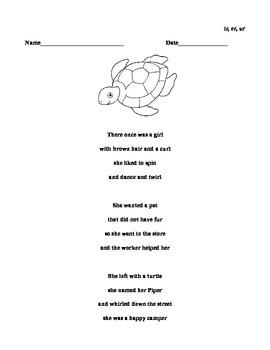 R-control vowel Poem ir,ur,er