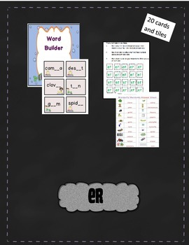 R-controlled Vowel Word Builder Bundle (AR, ER, IR, OR, UR)