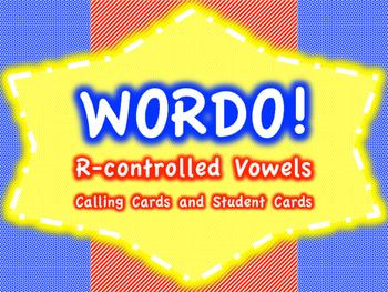 R-controlled Vowels WORDO (Bingo Game)