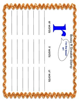 R controlled syllable activities-Bossy r